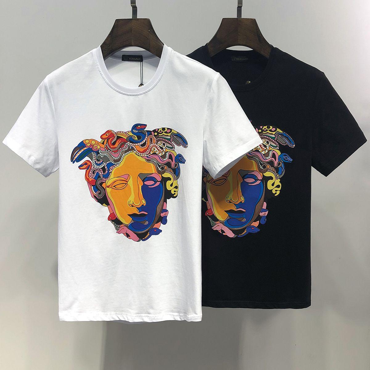 51d174fd 2019 Italy designer polo shirt Fashion Luxury Brand medusa t shirts mens  Casual Cotton polos with embroidery Medusa t-shirt applique Q-1