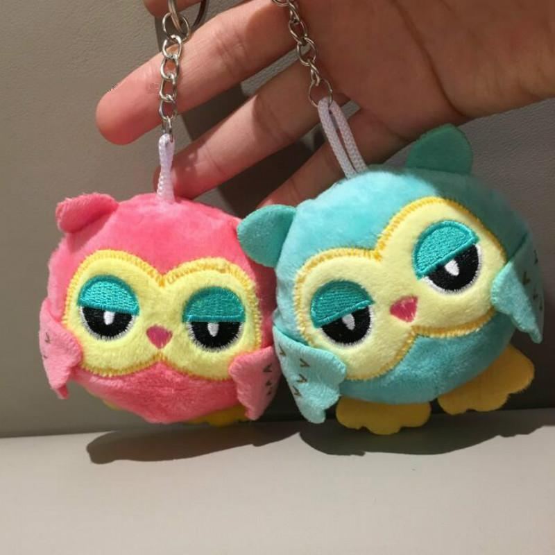 9cm Owl Key Chain Plush Toys Stuffed Animal Owl Gifts Toy Small