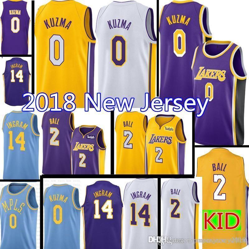 41eb780b9 2019 Cheap 0 Kyle Laker Kuzma Jersey New Los Angeles Brandon 14 Ingram  Lonzo 2 Ball Basketball Jerseys 2016 Retro Kobe 24 Bryant From  Topmensjersey2018