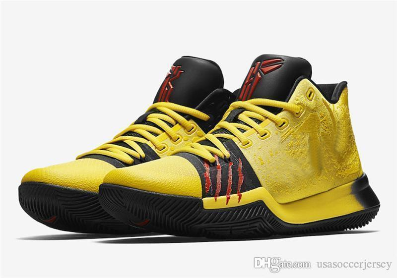 new concept b4155 861ed Top Quality Kyrie #3 Bruce Lee Shoes Classic Basketball Shoes Mamba  Mentality Signature Shoes Outdoor Sports Sneakers Free Shipping