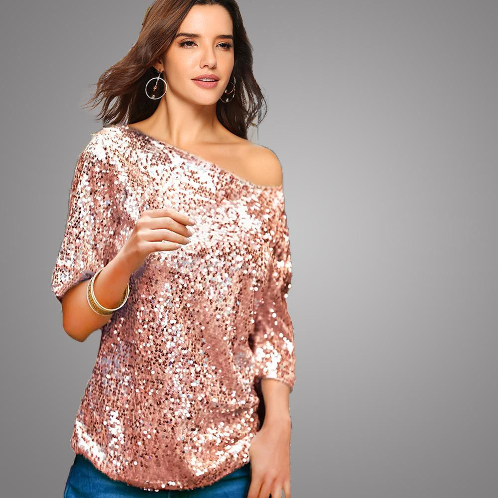 e24eba140f Woman's Tshirt 2019 Spring New Arrival Off-the-shoulder Tops Hot Sale  Multi-Color Optional