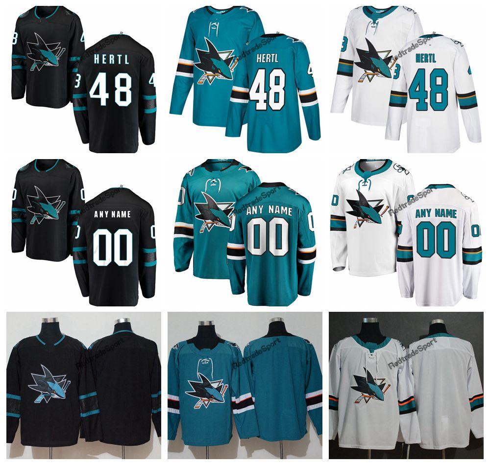the best attitude d9865 fe43d 2019 San Jose Sharks Tomas Hertl Hockey Jerseys Mens New Alternate Black  #48 Tomas Hertl Stitched Jerseys Customize Name Number