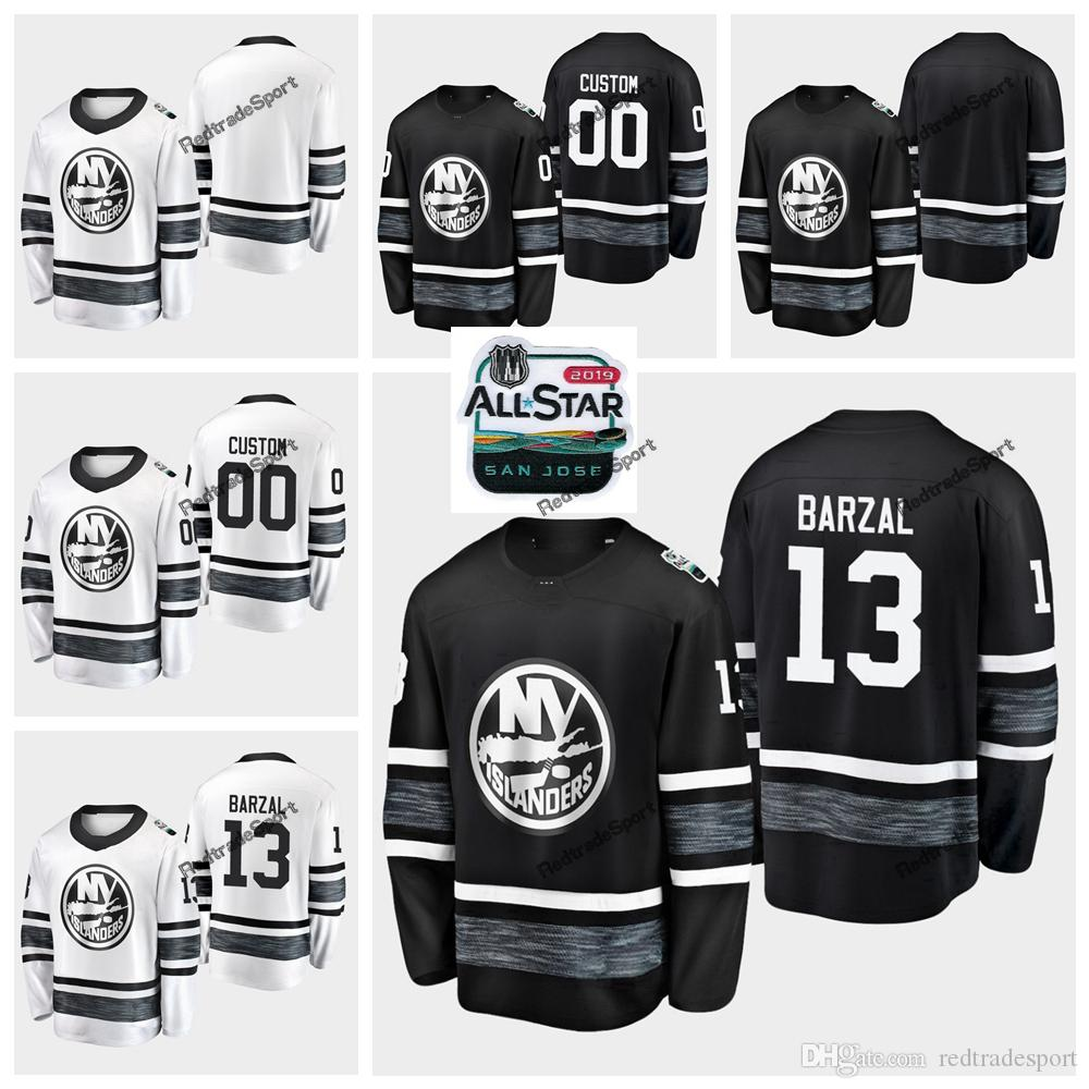 the best attitude 6dd13 2a965 2019 All-Star Game Parley Customize Jerseys Black White 13 Mathew Barzal  New York Islanders Hockey Jerseys All Star Stitched Shirts S-XXXL