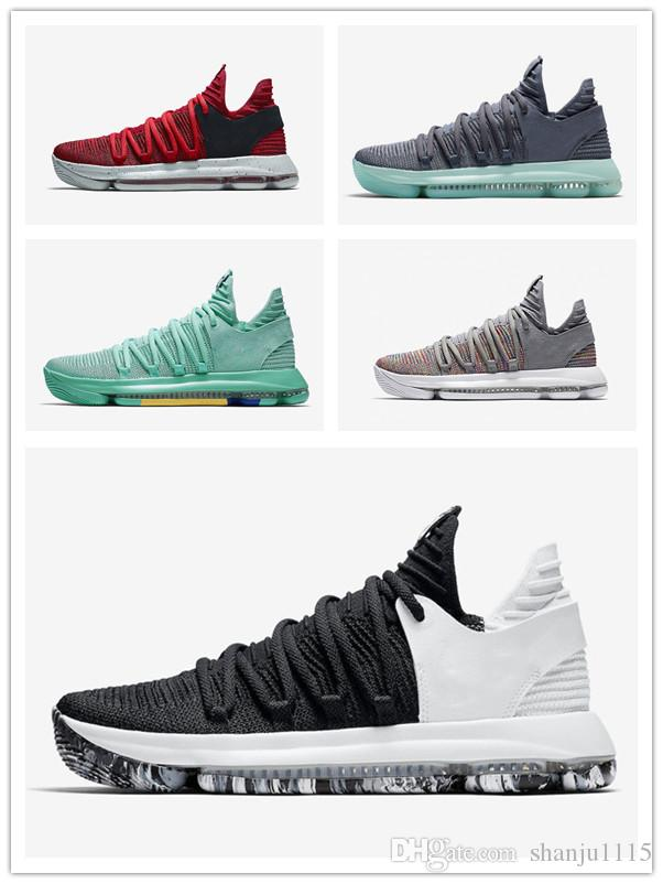 finest selection 19e26 72688 2019 New Zoom KD 10 Anniversary University Red Still Kd Igloo BETRUE Oreo  Men Basketball Shoes Kevin Durant Elite KD10 Sport Sneakers KDX From  Shanju1115, ...