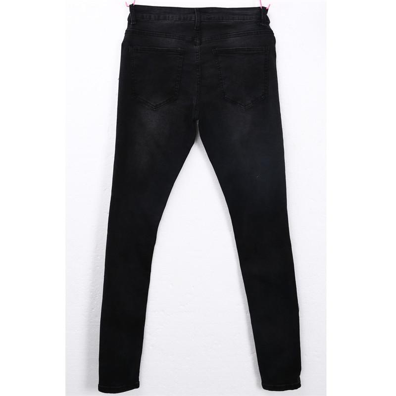 Hip Hop degli uomini pantaloni a matita distrutti marchio di abbigliamento 2018 pantaloni slim fit maschio nero Jeans Fori Ripped Skinny Pants Leggings