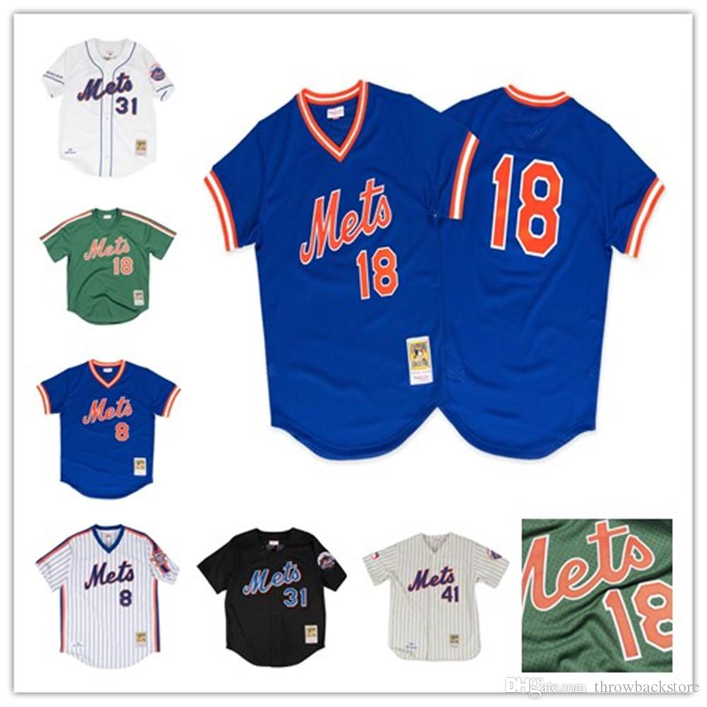 5de4134df Men's New York Keith Hernandez Jersey Mets Darryl Strawberry Dwight Gooden  Gary Carter Mike Piazza Tom Seaver Baseball Jerseys
