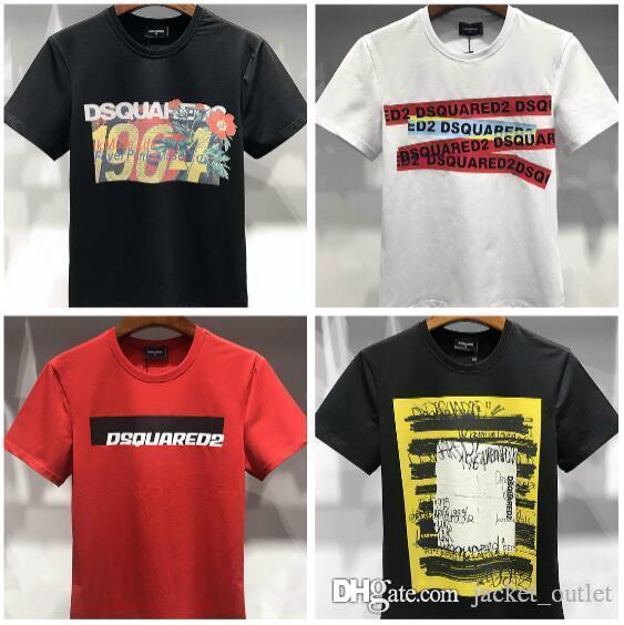 903a748f8837 New Fashion Summer T Shirts DSQes Men D2 Short-sleeve Printed Male ...