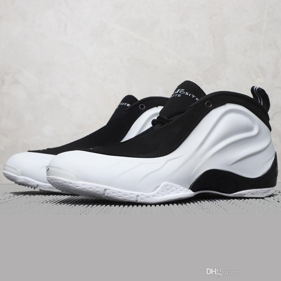 f714ec58cc7 2019 Cheap Men Penny Hardaway Basketball Shoes Flightposite Blacks Pink  White Copper Blue Silver Youth Kids Foams One Sneakers Boots With Box From  ...