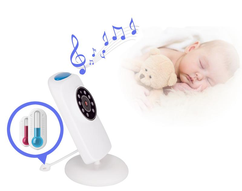 GB101 baby phone camera de surveillance 2.4 inch LCD IR Night Light Vision Temperature Monitor VOX micro enfant musique