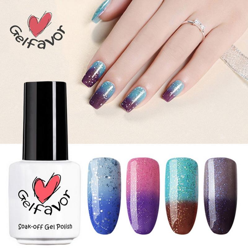 Manooby Brand Party Nails Art Double Color Snowflake Refers To Oil ...