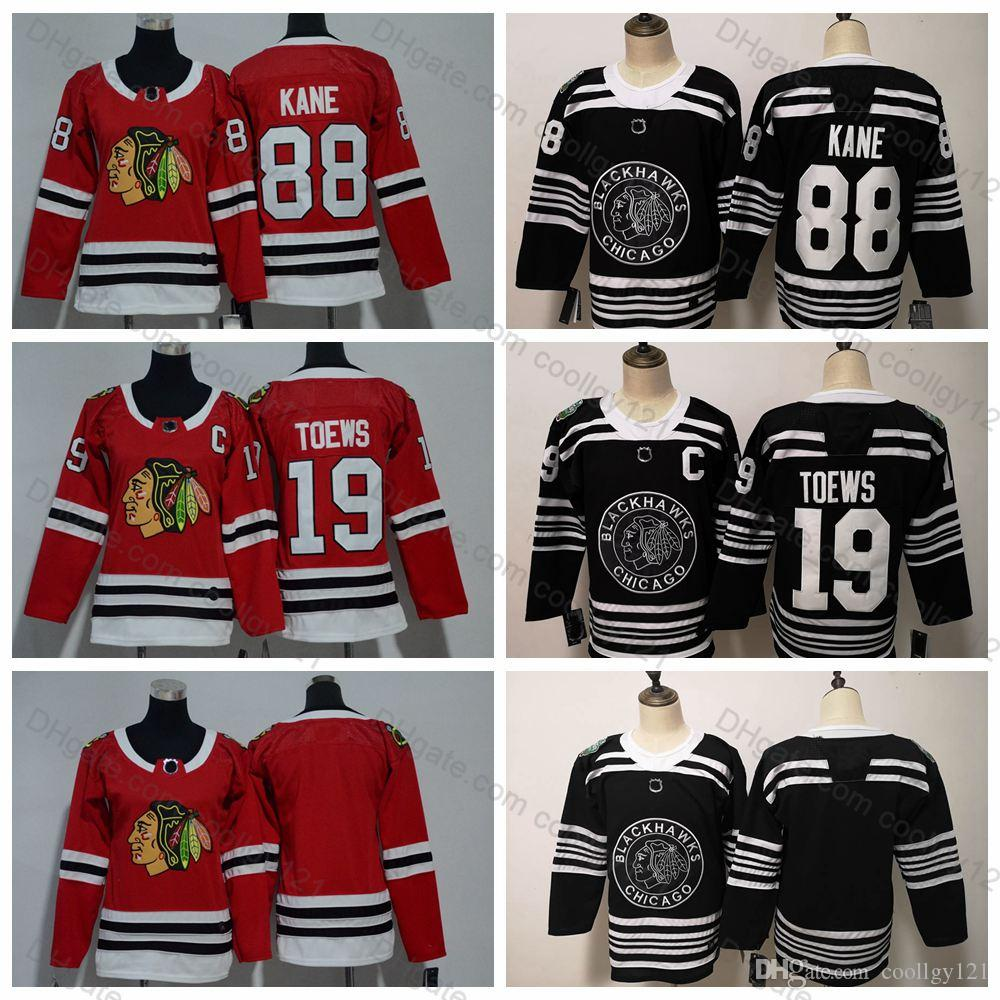 2019 Winter Classic Youth Women Chicago Blackhawks 19 Jonathan Toews 88 Patrick  Kane Kids Boys Ladies Hockey Jerseys Winter Classic Black Jonathan Toews ... 654fc7c65