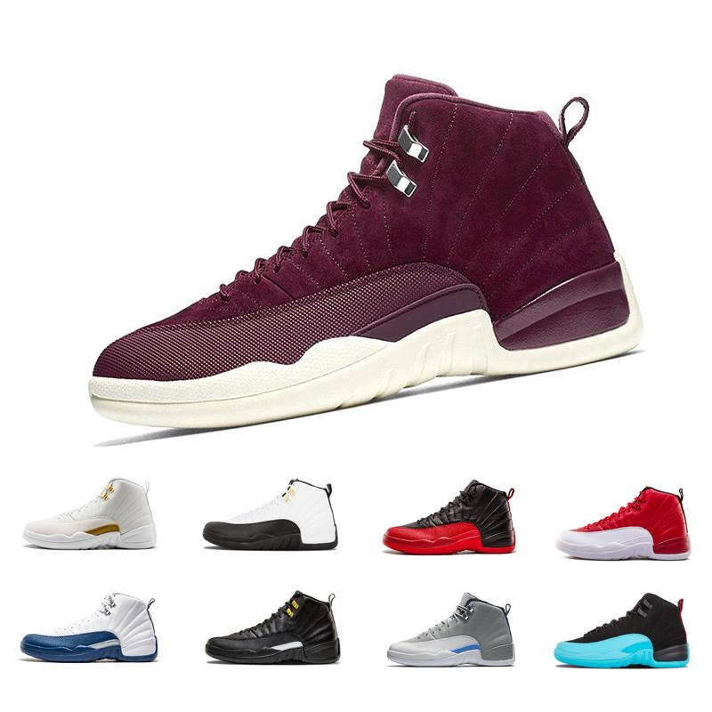 b41f752e57c8 2019 High Quality 12 12s Mens Basketball Shoes Sneakers OVO White Gym Red  Dark Grey Sports Basketball Shoes Taxi Blue Suede Flu Game CNY From ...