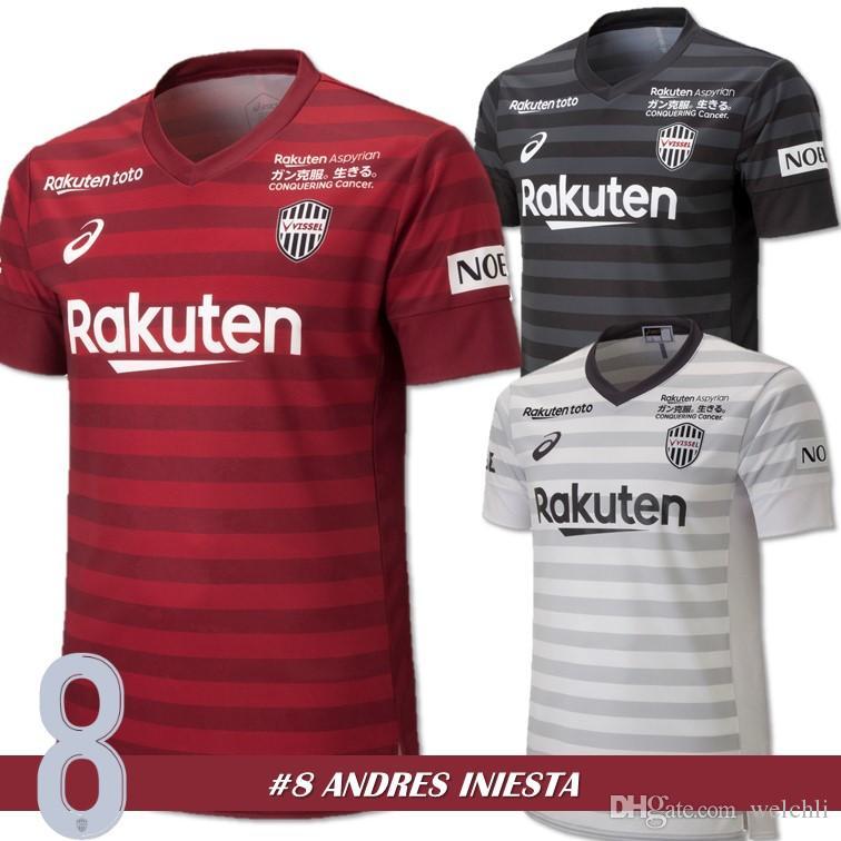 8726603888 Compre Perfeito 2018 Vissel Camisa De Futebol Personalizado DAVID VILLA 7  A.INIESTA 8 Podolski 10 Camisas De Futebol Em Casa Fora Terceiros Uniformes  De ...