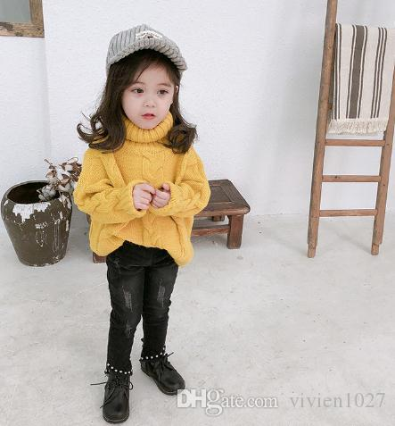 435ce9cfb665 Girl Turtleneck Sweaters 2018 Autumn Winter New Korean Coat Girl ...