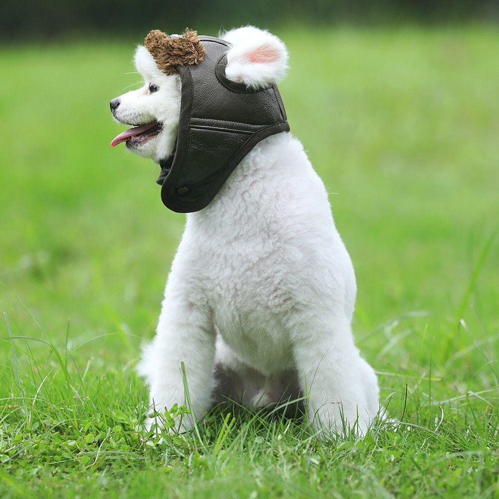 Neueste Kappe Für Hund Herbst Winter Stil Niedlichen Aviator Pet Hut Kostüm Cosplay Winddicht Pilot Hut Für Kleine Mittelgroße Hunde
