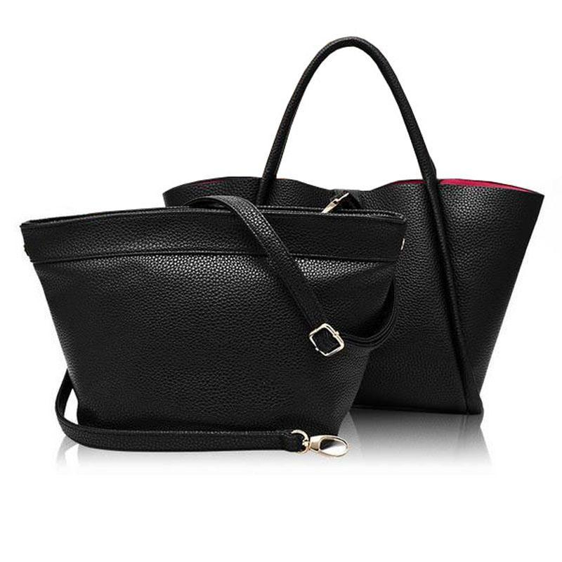 Girl Luxury Handbags Women Bags Sets Designer Brand Famous 2016 Leather  Small Clutch Leather Messenger Shoulder Bag Female Tote 182d978a912c3