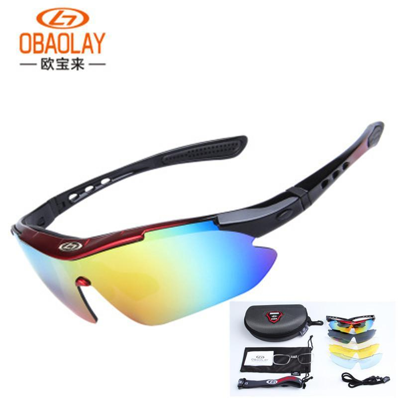 2c51df79ca7 2019 Polarized Cycling Glasses 5 Lens MTB Bike Glasses Outdoor Sport  Cycling Sunglasses Men Women Bicycle Eyewear Oculos Ciclismo From Sportsun
