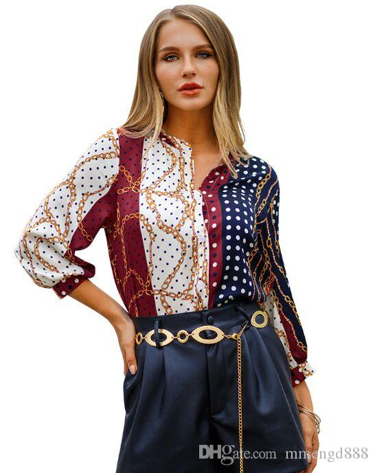 3756b2a502dd0 2019 2019 Newest Spring New Bohemian Holiday Wind Shirt Shirts Women V Neck  Top Bottoming Shirt From Mmengd888