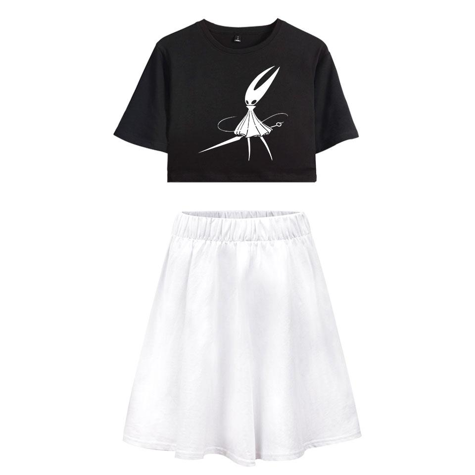 f6729c0915e234 2019 Hollow Knight Fashion Women Two Piece Set Summer Short Sleeve Crop Top+ Skirt 2019 Hot Sale Casual Trendy Streetwear Clothes From Yuhuicuo, ...