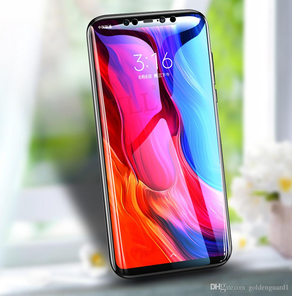 on sale acf08 7dd1d 9D Curved Tempered Glass Screen Protector For Xiaomi Redmi Note 6 Pro Mi8SE  Mix 2s 3 Pro Full Cover Mobile Phone Protective Films