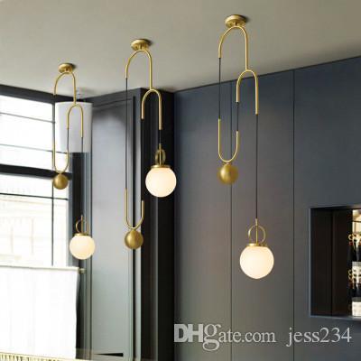 Compre Nordic Moderno LED Luces Colgantes Para Comedor Restaurante ...