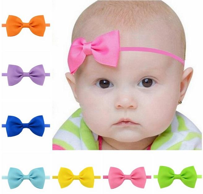 Baby cute Bowknot Headbands Hairbands Hair Elastics Band for Baby Girls Newborn Infant Hairband Hair Accessories Birthday Gift 705