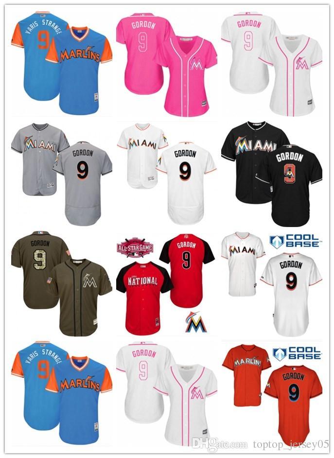 premium selection fe187 0fb53 2018 top Miami Marlins Jerseys #9 Dee Gordon Jerseys men#WOMEN#YOUTH#Men s  Baseball Jersey Majestic Stitched Professional sportswear