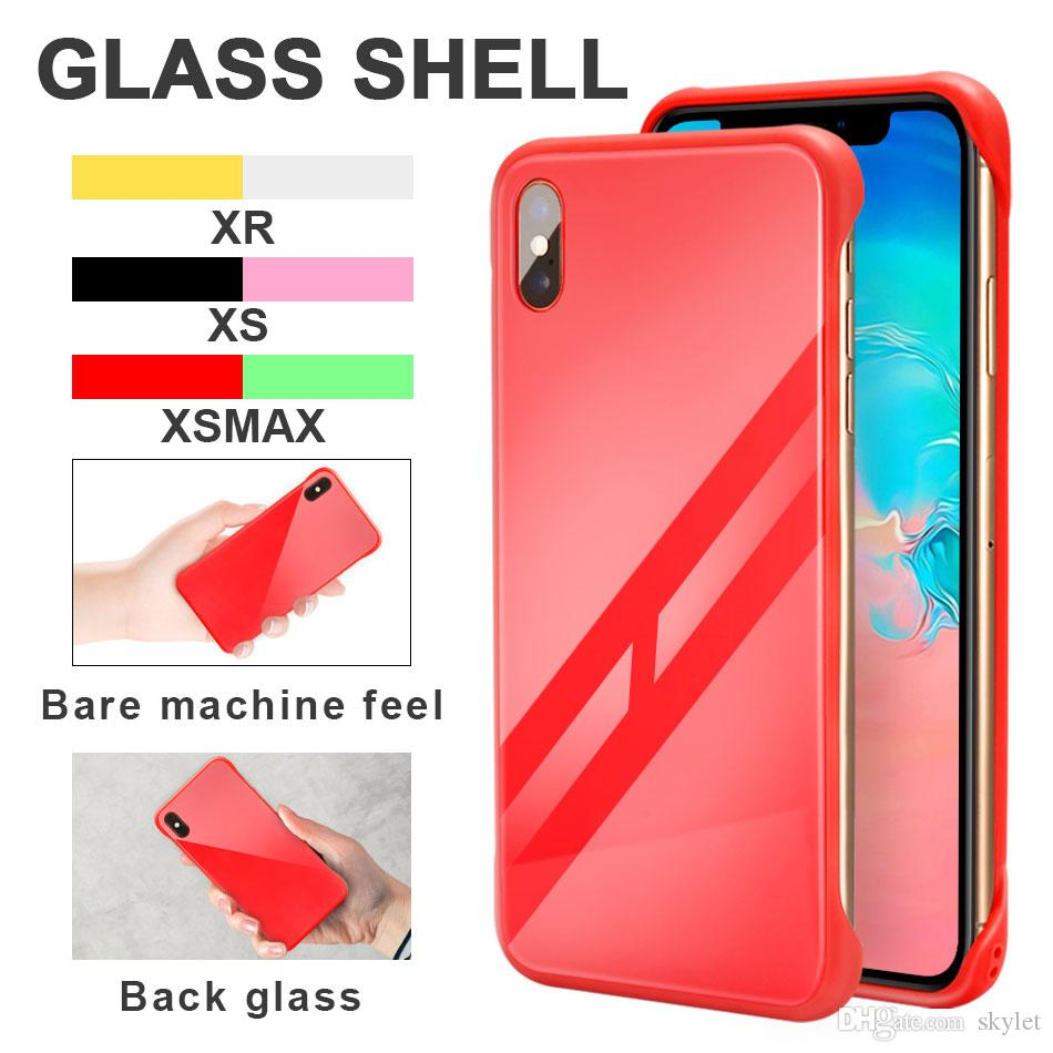 Skylet Armor Case For iPhoneX XS MAX XR Protector Shell Hard Cover Cases Defender Glass Phone Case