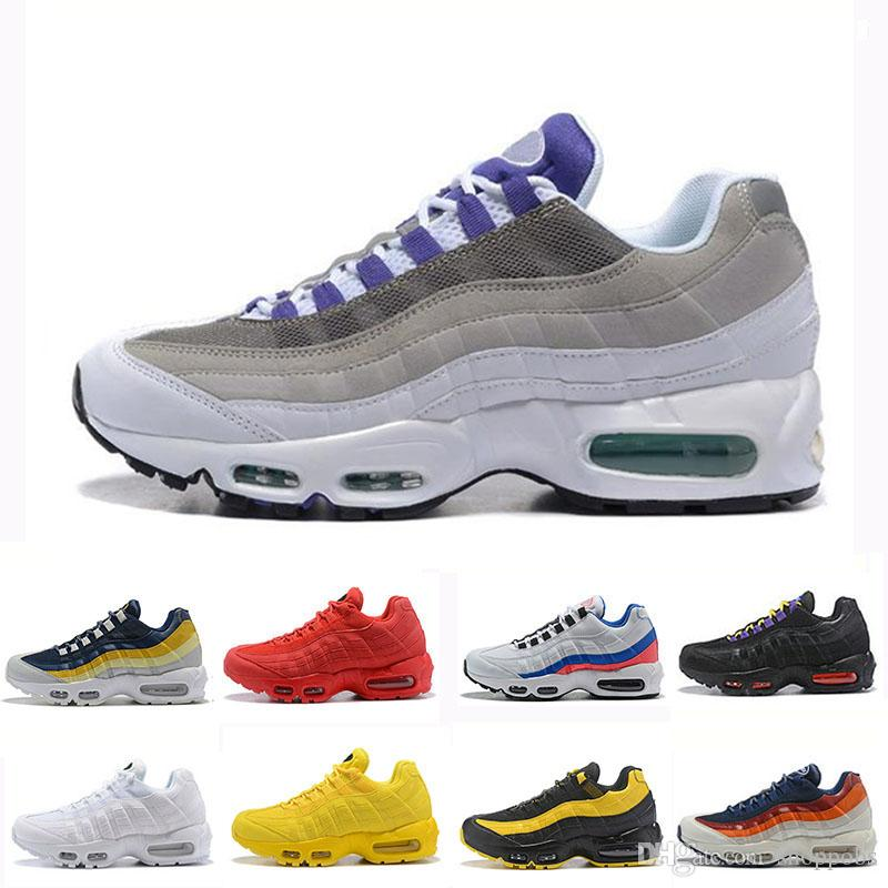 Nike Air Max 95 Alta calidad para hombre original zapatillas Chaussure Homme hombres zapatillas deportivas marrón negro blanco diseñador zapatillas