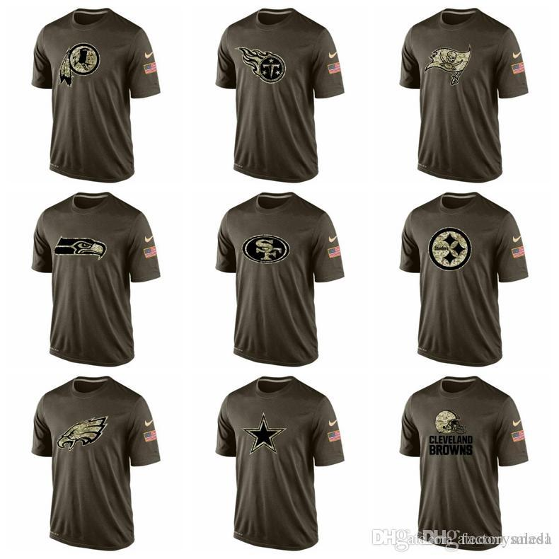 Philadelphia Eagles Pittsburgh Steelers 49ers Seattle Seahawks Buccaneers  Titans Redskins Mens T Shirts Salute To Service Dri FITT Shirt T Shirts  Best Best ... 237d6da81