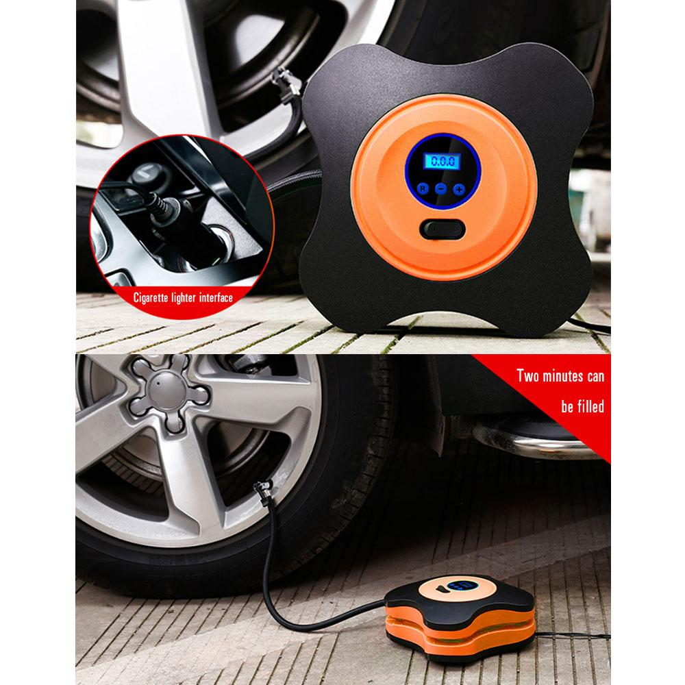 12V DC Air Compressor Pump, Digital Tire Inflator Auto Shut Off with LED Light for Cars, Bicycles and Balls