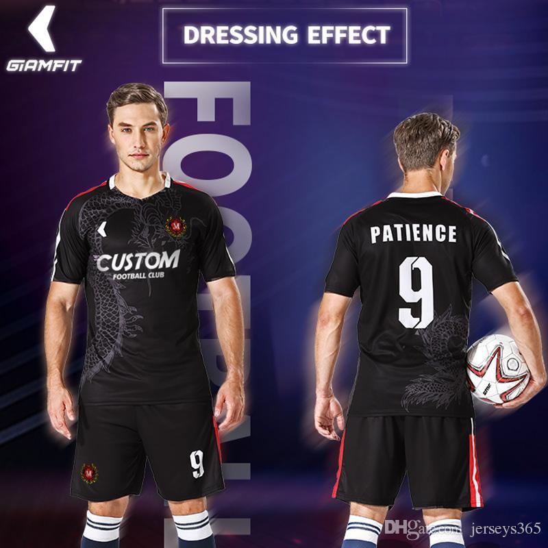 3263cb3bc23 2019 Soccer Jerseys Design Custom Football Uniforms Fully Sublimation  Football Jerseys Club College Camisetas Futbol Shirt Sportswear From  Jerseys365