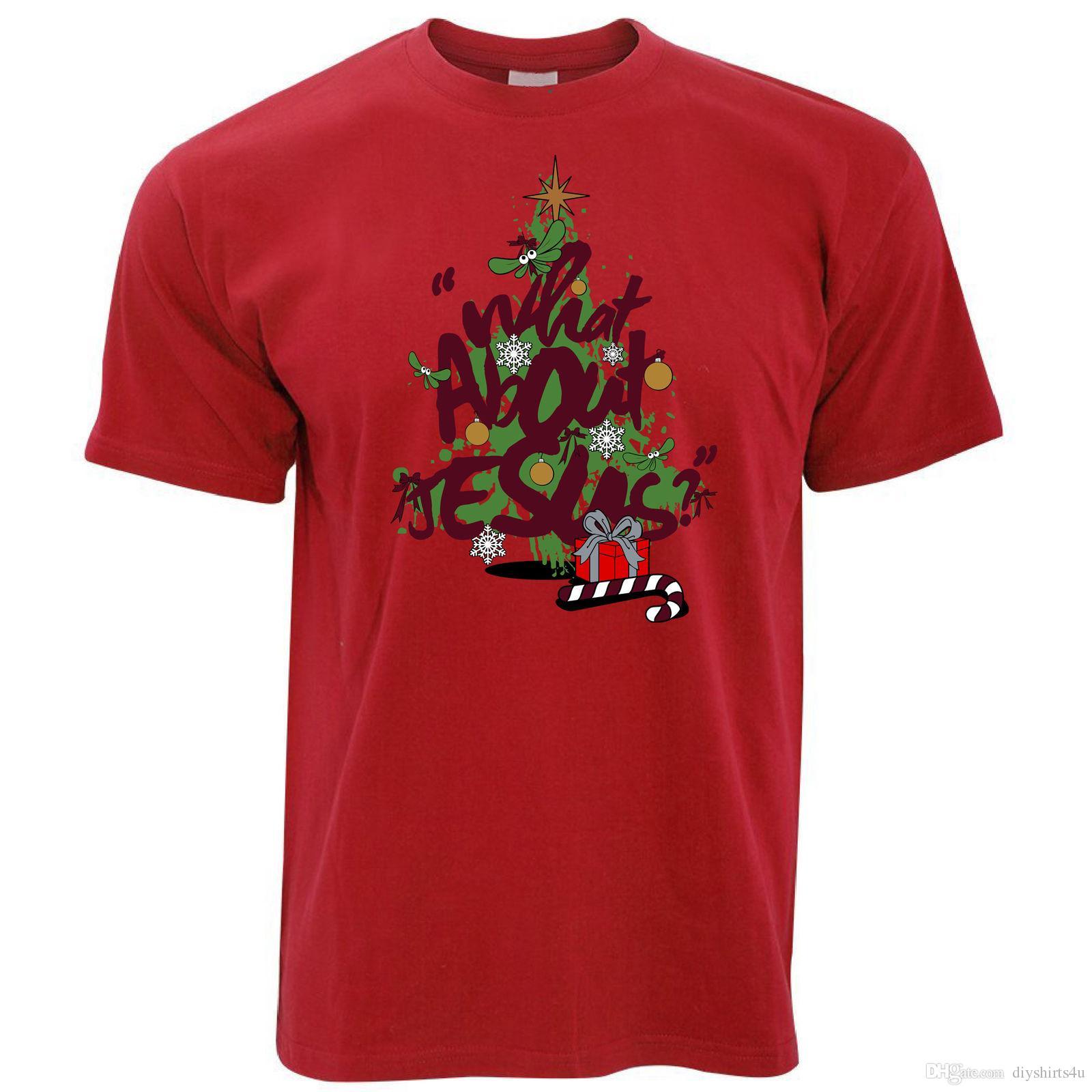 Compre Camiseta De Navidad ¿Qué Hay De Jesús  Graffiti Punk Árbol De Navidad  Arte Vandalismo Camiseta Hombres Hombre Popular De Manga Corta Día De  Acción De ... d639c7b5068b6