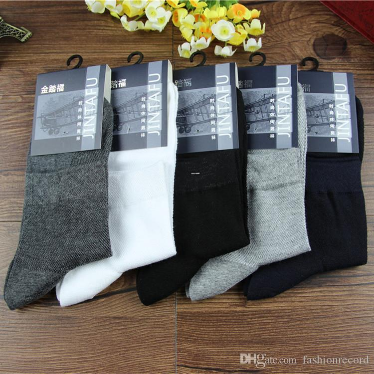 10pairs a lot pure cotton at all seasons man socks sports mesh pure color