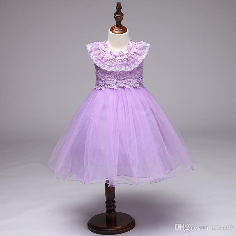 0d25abd5615 2019 New 2019 Summer Dress For Children Flower Girls Dress Party Wedding  Dress Elegent Princess Baby Girls Clothes For Christmas From Allen69