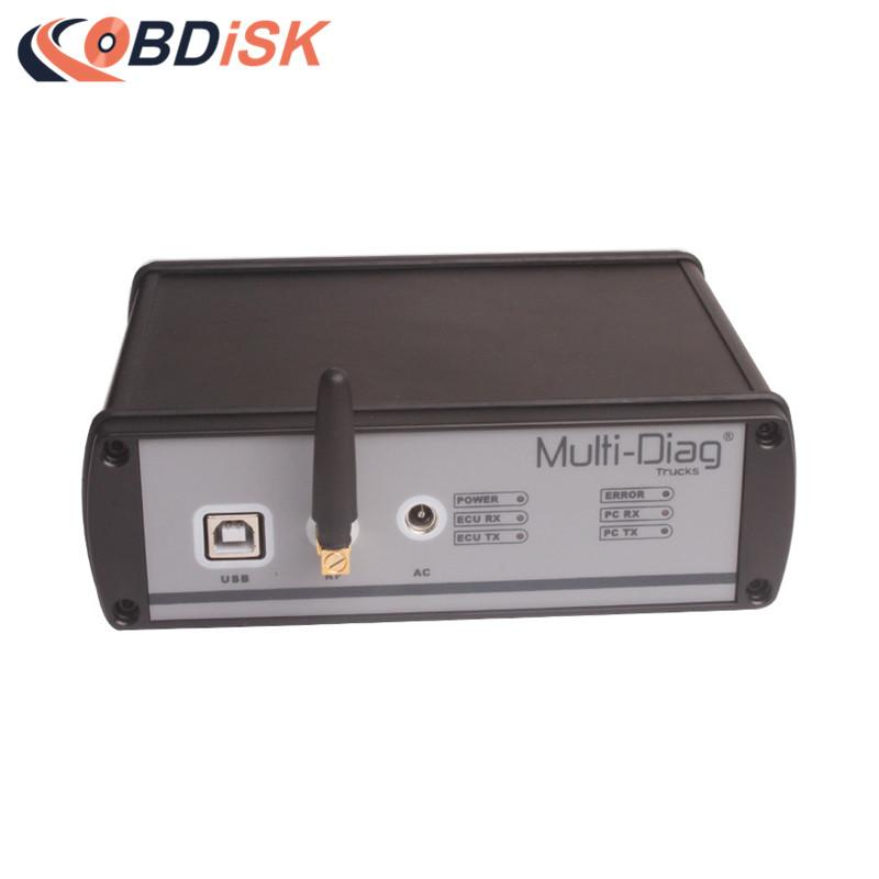 V2011C WAS Multi-Diag Bluetooth Multi-Languages Truck Diagnosis Free  Re-Activation for Mercedes/IVECO/MAN/DAF/VOLVO/RENAULT