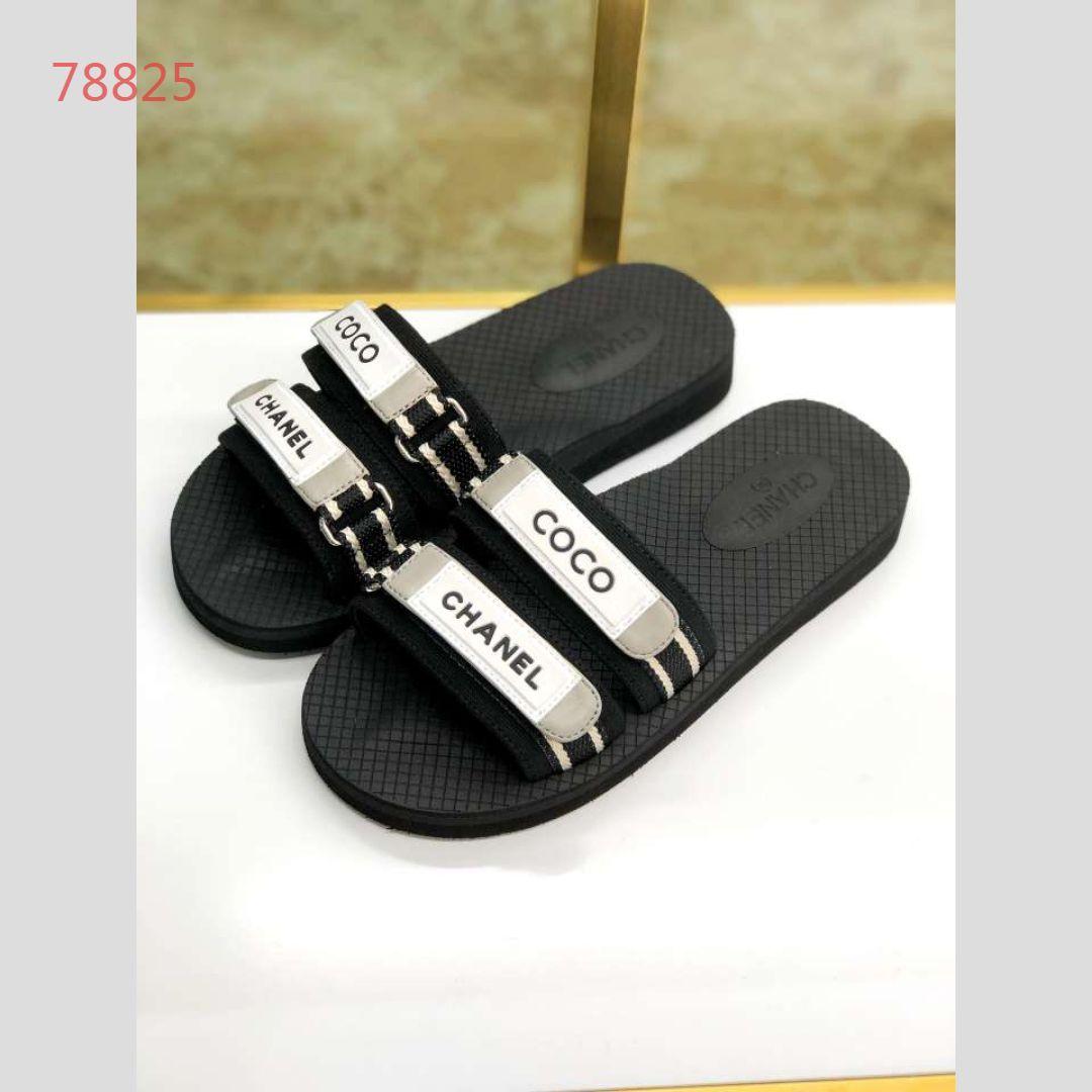 414eed3382 Wholesale Summer women luxury beach cork Slippers Casual Sandals Sequins  Slides Double Buckle Clogs Women Slip on Flip Flops Flats Shoe