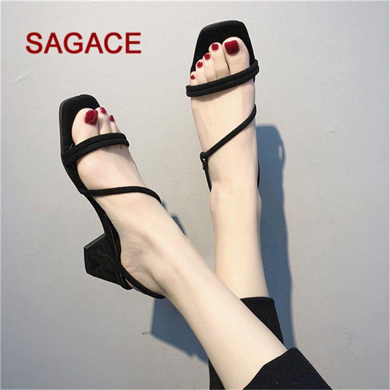 c70c0a7352f Designer Dress Shoes Hb@Sagace Women Pumps Heels Ladies Open Toe Breathable  Beach Elastic Band Sandals Casual Square Heels Chaussures Femme Summer Shoes  ...