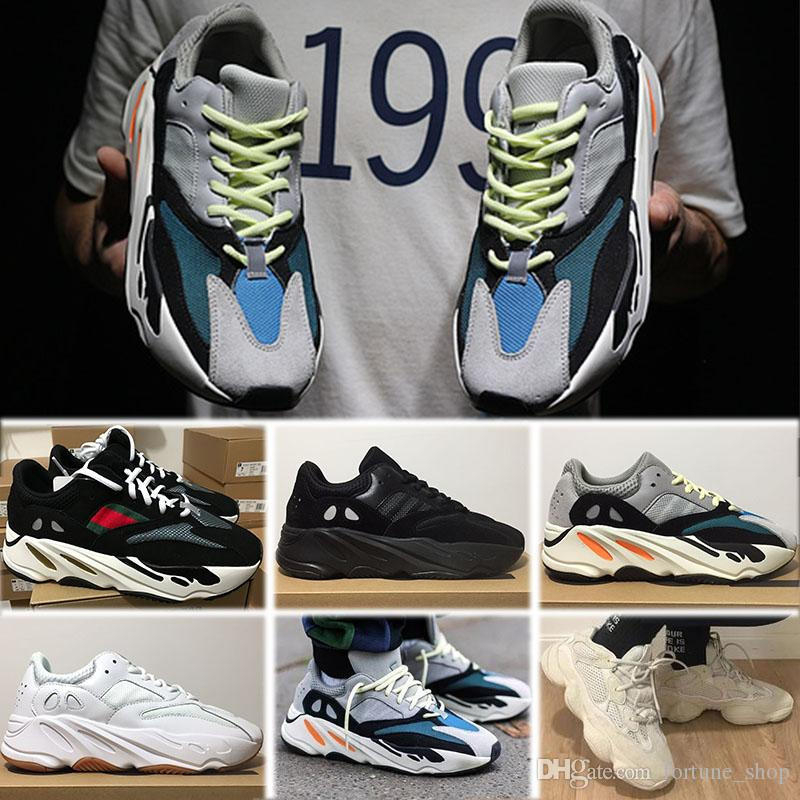 the latest f57e6 ffb30 Acheter Adidas Yeezy 350 500 700 V2 Static 2019 Chaussures Design Kanye  West 700 Chaussures De Sport Hommes Femmes Sneakers 700 Chaussures De Sport  ...