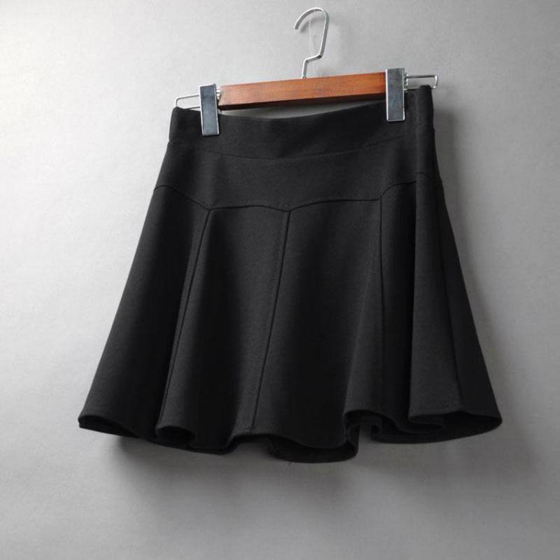 2019 2019 Spring New Arrival Korean Style Fluffy Mini Skirt Slim Elastic  Waist Black Skirt Plus Size Umbrella From Bida Jany dd21379877e9