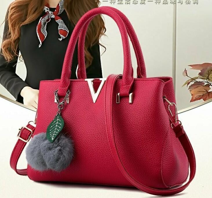 c64494bfcbf Womens Designer Satchel Purses Handbags Ladies PU Leather Tote Bags Zipper  Shoulder Bags European and American Style