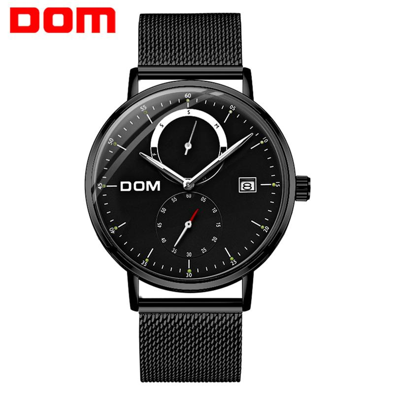 2019 Fashion Men Watch Business Mens Watch Mechanical Automatic Steel Ceramic Man Watch Dom Brand Wristwatches Waterproof Mens Clock Lover's Watches