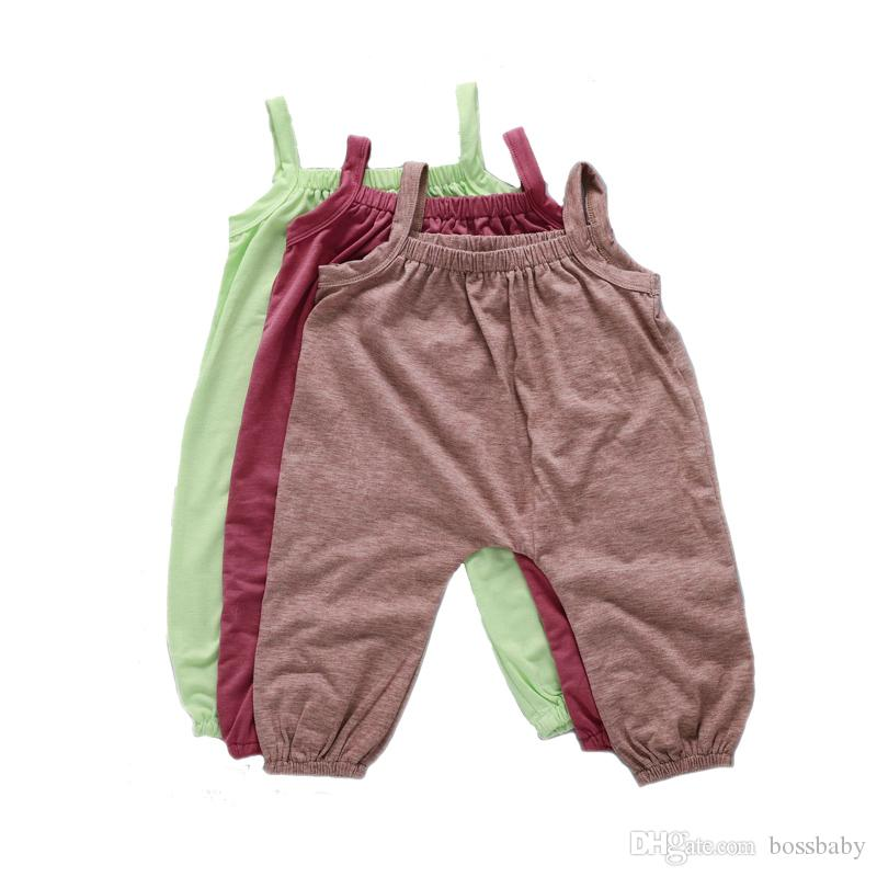 f92853563093fd 2019 Newborn Rompers Sling Pants Baby Girl Clothes Kids Designer Clothes  Boys Solid Color Cool Trichrome Cotton Casual Clothes Sleeveless 19 From  Bossbaby, ...