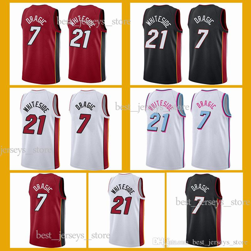 673258c920d 2019 Hot Sale 21 Whiteside 3 Wade Basketball Jerseys 7 Dragic Jersey ...