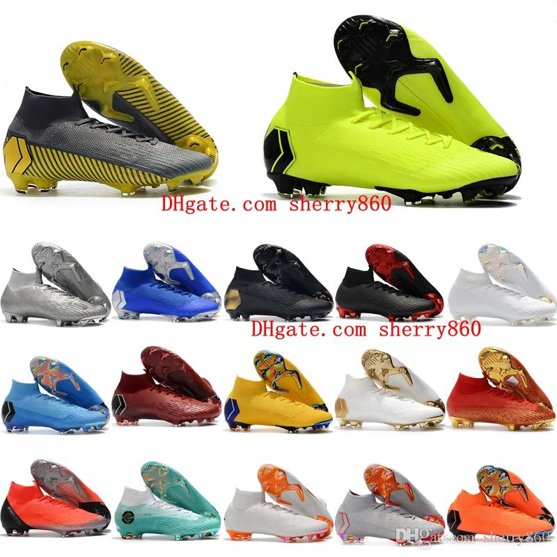 7898c88f4e70 2019 2018 Mens Soccer Cleats Mercurial Superfly KJ VI Elite Cristiano  Ronaldo Neymar FG Soccer Shoes Cr7 Football Boots Scarpe Calcio Cheap Ora  From ...