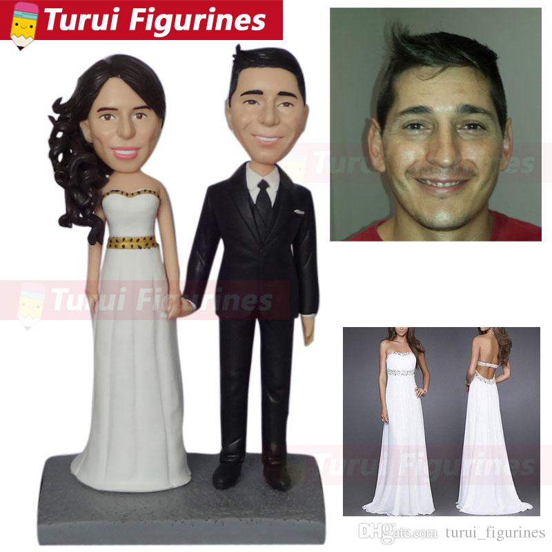 Custom-made 3D Sculptures from your photos wedding cake topper from photos pictures statuette from pictures buy bobblehead dolls