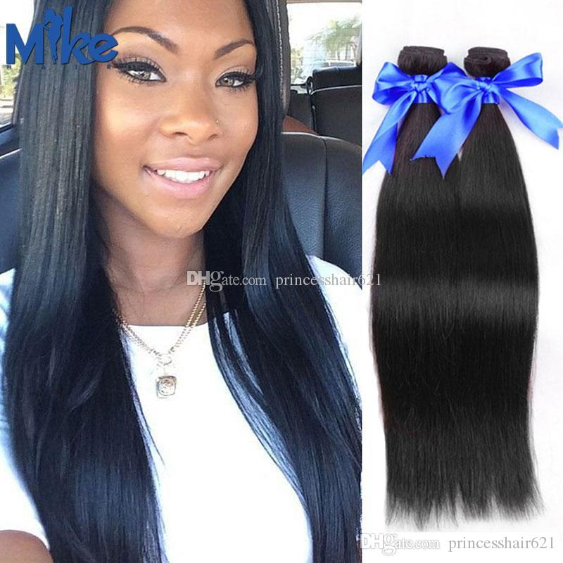 MikeHAIR Wholesale Brazilian Hair Bundles Natural Straight Human Hair  Weaves Affordable Cheap Peruvian Indian Malaysian Hair Extensions Weft  Weave Hair ... e89b3e319f12