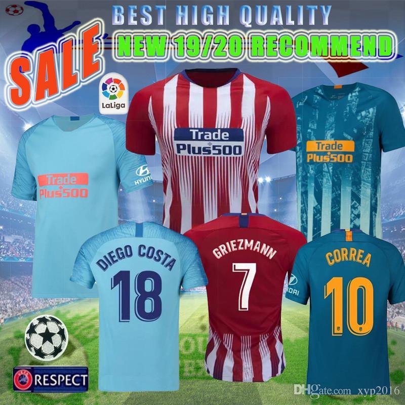 san francisco 39440 a68a9 NEW 18/19 Madrid Tshirt Shirt Griezmann Atletico Soccer Jersey Home Away  Football Shirts DIEGO COSTA KOKE LEMAR Camiseta Maillot Uniforms