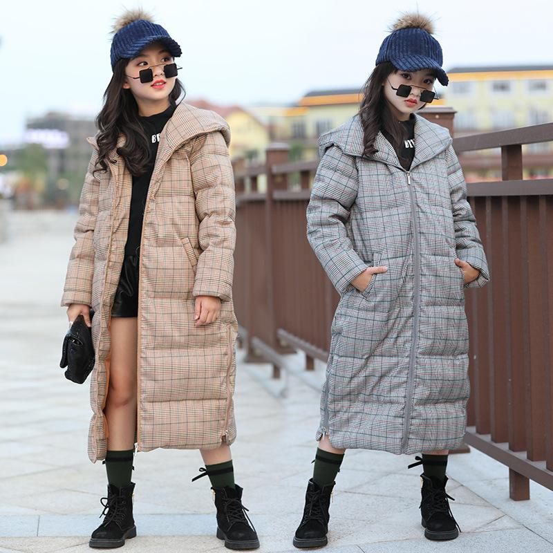 6646bef65 Children Outwear Winter Jackets Girl Long Cotton Down Coat Thicken ...