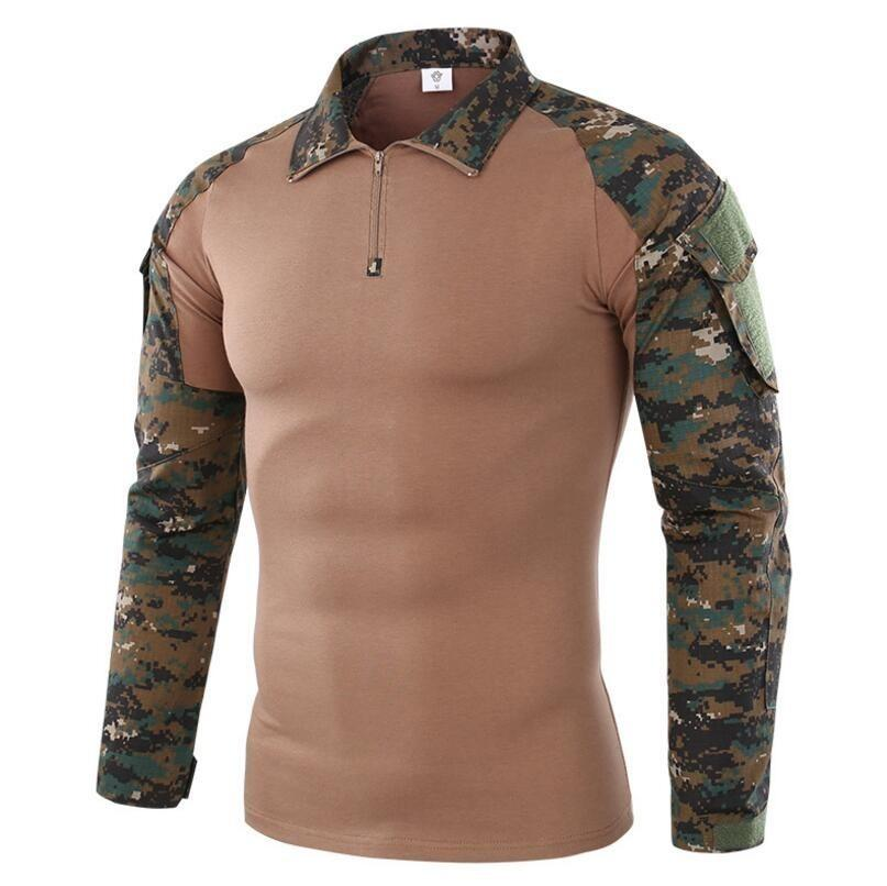 0f35f23f 3XL Outdoor Sports Camo Long Sleeve Uniform Tops Army Fans Hunting Camping  Training Breathable Tactical Clothes Shirt Hiking Shirts Cheap Hiking Shirts  3XL ...